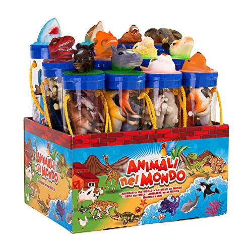 Globo Toys globo3235427cm W 'Toy Ausstellen, Animal in Tube (Farm Animal Tubes)
