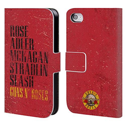 Ufficiale Guns N Roses Sweet Child O Mine Vintage Cover a portafoglio in pelle per Apple iPhone 6 Plus / 6s Plus Nomi