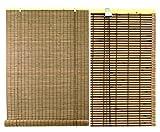 Vily's House Persiana Estor de Lamas de bambú para Ventana de Interior en Color Nogal con remate Lateral `para un Mejor Acabado(100 x 300)