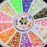 2016nuevo 12colores 3d Nail Art Multicolor Brillantes Rueda