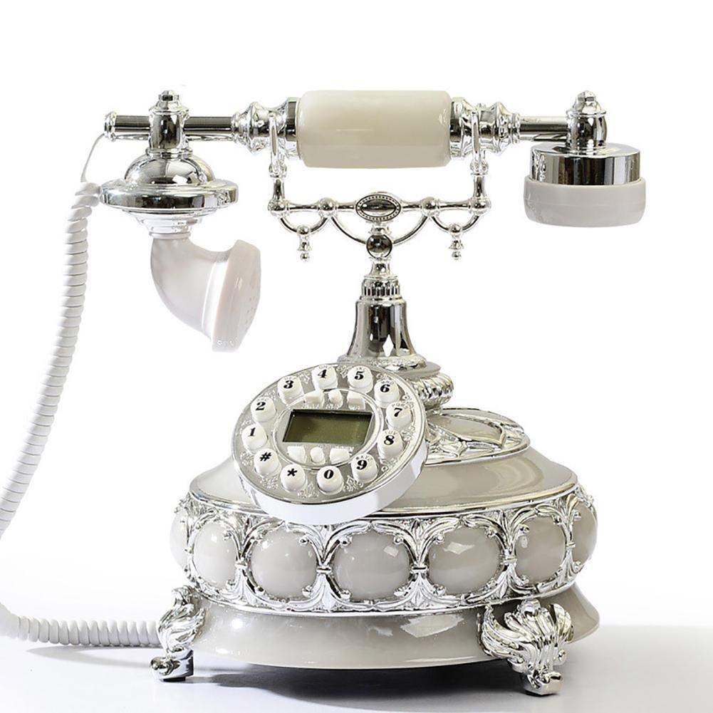 BBIAY Home Telefono per scrivania, Stile Europeo, Casa creativa, ID chiamante, Camera da letto, Sogg