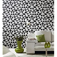 Graphics Alive Geometric Triangles Black and Grey Wallpaper 13267-30 by PS Products
