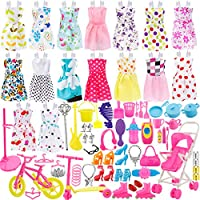 Total 114pcs - 16 Pack Clothes Party Gown Outfits for barbie dolls+ 98pcs Dolls Accessories Shoes