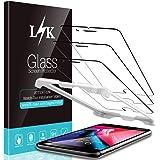 L K 3 Stücke Schutzfolie für iPhone 7 / iPhone 8 Panzerglas, [9H Härte] [Blasenfrei] [Hüllenfreundlich] [Einfache Installation] HD Klar Gehärtetem Glas Displayschutzfolie