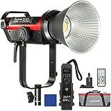 Aputure COB 300D Mark II 300D II LED-Videoleuchte, mit V-Stand 80.000 Lux @ 1m, entspricht die Helligkeit einer Lampe 575W HMI, die erste drahtlose Fernbedienung von 2.4G-Anwendungen
