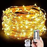 Cadena de Luces, Guirnalda de Luces 10M 100 LED Impermeable Alambre de Cobre de 8 Modos de...