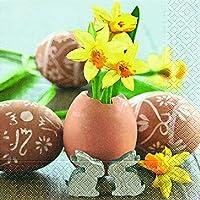 20tovaglioli Small Easter Greetings–Buon–Saluti/Pasqua/primavera 33x 33cm