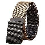 ITIEZY Nylon Herren Stoffgürtel Jeansgürtel Breite 38mm Verstellbare Outdoor Taktischer Militär Gürtel Metallschnalle