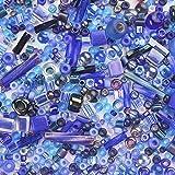 GTFHUH Be Mixed Round Bugle Glass Bead Mixta aleatoriamente Colores y tamaño DIY Accesorios de Trabajo con Cuentas 5 Gramos/Lote,1