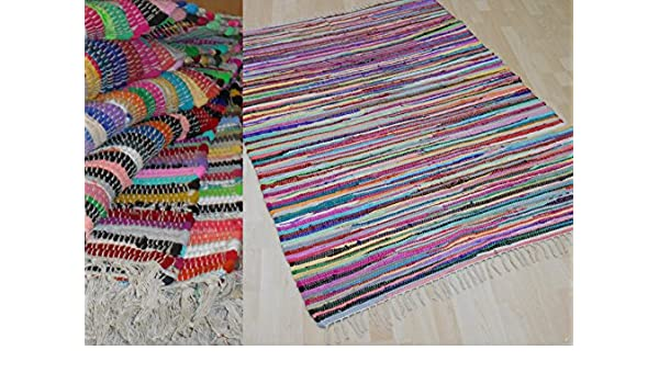 Handwebteppich uni en 11 couleurs 100/% coton handweb tapis Fleckerl Lavable