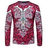 Dragon868 Pullover Herren Herbst Winter Afrikanischer 3D-Druck Lange Ärmel Dashiki O-Neck Sweatshirt Oberteile