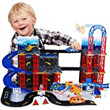 City Car Park Auto Parking Garage Petrol Station Die Cast Cars Play Set Toy