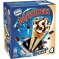 Maxibon Helado, Cono Cookies&Cream - Paquete de 4 x ...