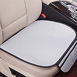 OnePine Universal Auto Sitzbezüge Sets Kissen Unterlage,2 Stück Breathable Komfortable Eisseide Rutschfest Auto Kissen (Grau)