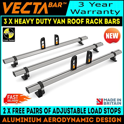 AT112LS Peugeot Expert 2 Bars Roof Rack Load Stops 2007-2016