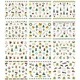 Tinksky Weihnachten Nail Sticker Decals 3D Nail Art Aufkleber Maniküre Wassertransfer Wasserzeichen Tattoos Nail Art Tip
