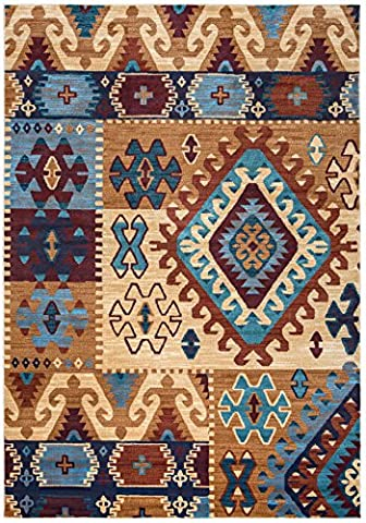 Rizzy Home Bellevue Collection Power Loomed Double Pointed Designs Area