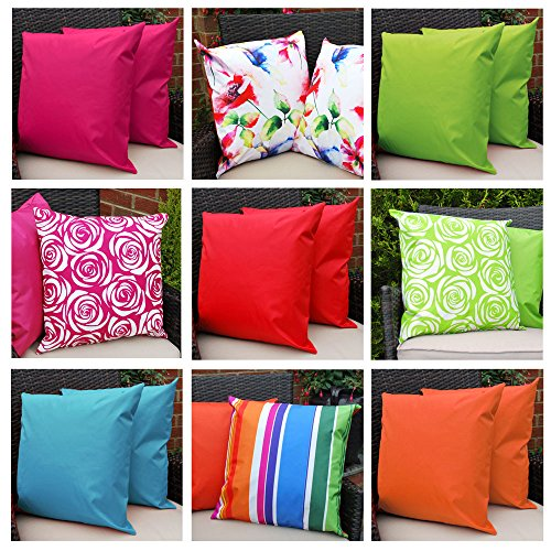 Comfort Co Waterproof Garden Cushions For Chairs With Fibre Filled Cushions  For Seats And Benches   Red (Pack Of 2): Amazon.co.uk: Garden U0026 Outdoors