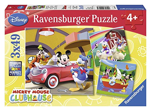 Ravensburger Disney Mickey Mouse Clubhouse 3x 49pc Jigsaw Puzzles