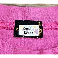 120 x Étiquettes autocollantes pour vêtements, doudous et affaires/Stickers personnalisés/S'appliquent sans couture ni repassage !