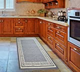 Bravich GREY Non-Slip Kitchen Floor Machine Washable Rubber Back Rug Hallway Mats Entrance