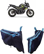 MotRoX Baklol_Royal Blue Two Wheeler Cover for Honda CB Hornet 160 (With Japanese Technology Stitched Piping )
