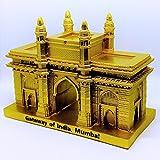 Golden Color Gateway Of India Souvenir Miniature Model Collectible