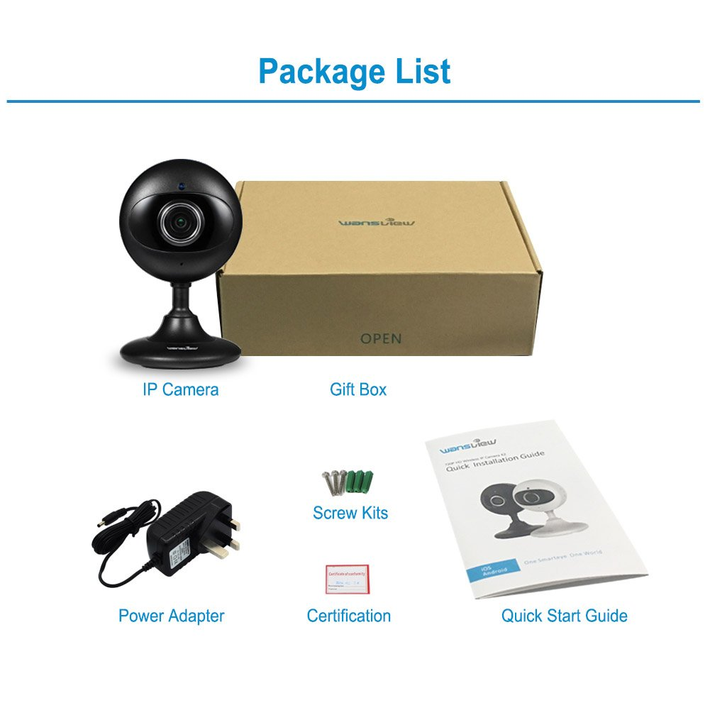 Wansview IP Camera, 720P WiFi Wireless Security Camera for Baby/Elder/  Pet/Nanny Monitor with Night Vision