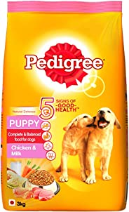 Pedigree Puppy Dry Dog Food, Chicken & Milk, 3kg Pack