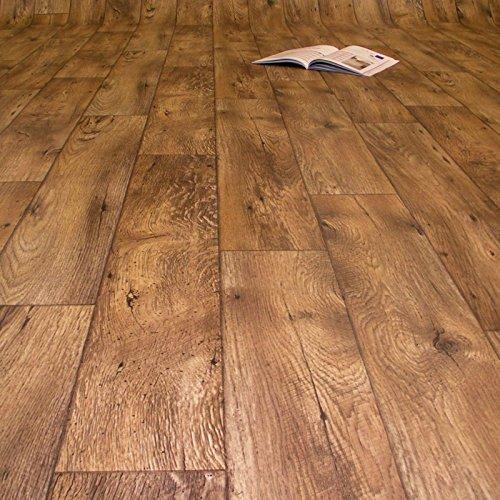 PVC Bodenbelag Holz Rustikal Dunkel Breite 2 m (8,95 € p. m²)
