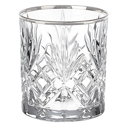 lorren-home-trends-dynasty-collection-crystal-double-old-fashion-beverage-glass-with-silver-band-set