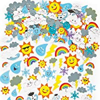 Weather Foam Stickers (Pack of 96)