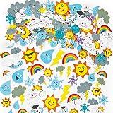 Baker Ross Lot de 96 Autocollants Météo en Mousse - Idéal pour la création de carte météo...