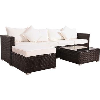 Rattan gartenmöbel sofa  Amazon.de: Svita California-Plus POLY-RATTAN Lounge Gartenset Sofa ...