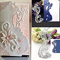 Bluelans® Metal Cutting Dies Embossing Stencil Template for DIY Scrapbook Album Paper Card Craft Decoration (Lace Flower Cutting Dies)