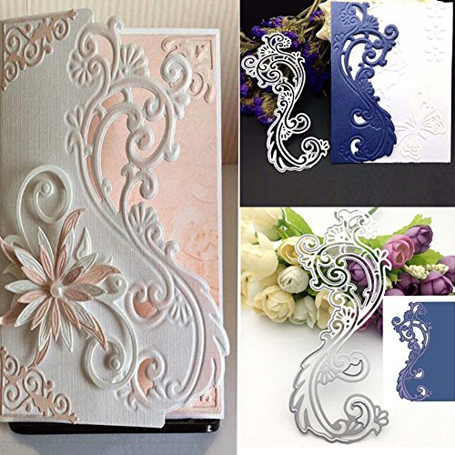 (FEIDAjdzf Stanzschablone mit Blumenmuster, für Scrapbooking, Album, Papierkarten-Vorlage)