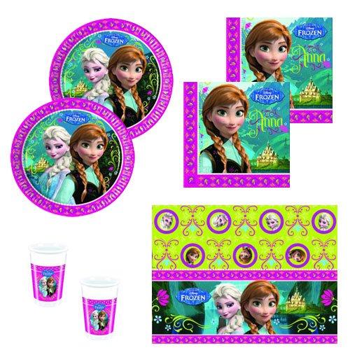 Frozen Partygeschirr Party Set Servietten Becher Teller (Elsa Party Supplies)