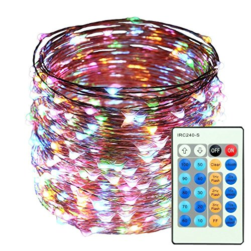 LED String Lights 164ft 500LEDS Waterproof Starry Copper Wire Light with Remote Control Decorative Lighting for Christmas Tree,Festival Holiday,Party,Garden,Wedding, Indoor&Outdoor,Patio (Multi-color)