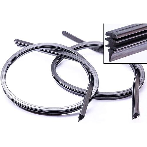CARALL S02896 Coppia 2 Pezzi di Gommini Refill Flat 26'' 650mm Ricambio Univesale Per Spazzole Tergicristallo In Ferro