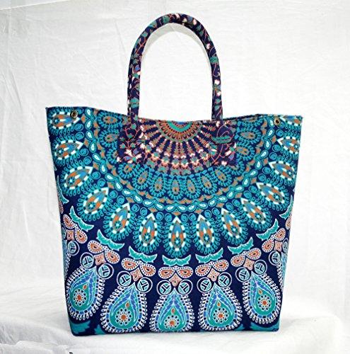 silkroude Handtasche Baumwolle Frauen, Geldbörse Lady indischen Mandala Tragetasche
