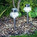 2er Set Solar LED Wegbeleuchtung Tischbeleuchtung Lights4fun von Lights4fun - Lampenhans.de
