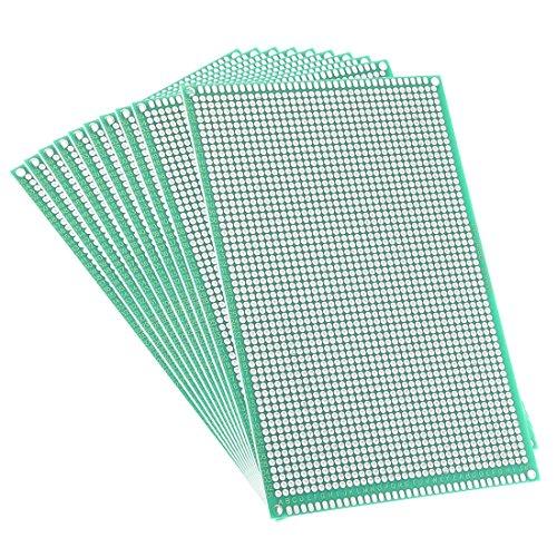 Sourcingmap 10x 15cm doppio circuito stampato universale per fai da te saldatura 10PCS