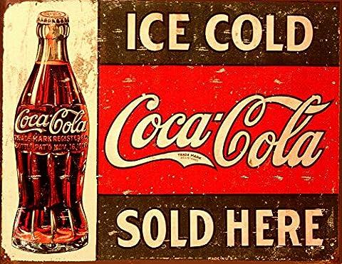 Plaque en métal Ice Cold Coca-Cola - 32 x 41 cm