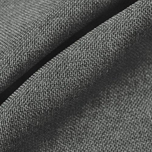 Polsterstoff Möbelstoff Stoff Meterware Mittel-Grau meliert