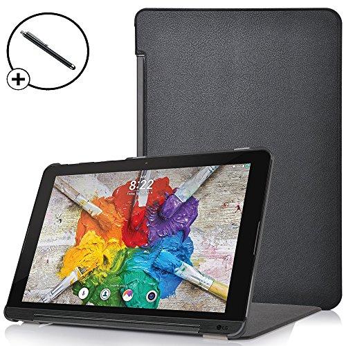 Forefront Cases® LG G Pad X II 10.1 Hülle Schutzhülle Tasche Case Cover Stand - Ultra Dünn und Leicht mit Rundum-Geräteschutz - inkl. Eingabestift (SCHWARZ)