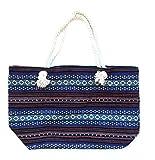 Bolsa de playa piscina de tela lavable con asa de cureda para mujer bolso de playa