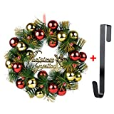 Corona de Navidad, Guirnalda de la Puerta de 16 '' Campanas de Pino Artificial de la Navidad Guirnalda de la Puerta de la Decoración de la Estación con la Guirnalda para Fiesta de Navidad