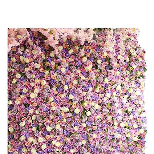 Blumenwand LVZAIXI Geburtstag Nahtlose Rose Blume Vorhang Dekoration Kind Fotografie Kulissen Party Fotostudio Hintergrund Hochzeitsblumen (Color : B, Size : 100x100cm)