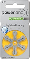 Power One P10 P 10 Hearing Aid Battery 6X2 12 Pcs