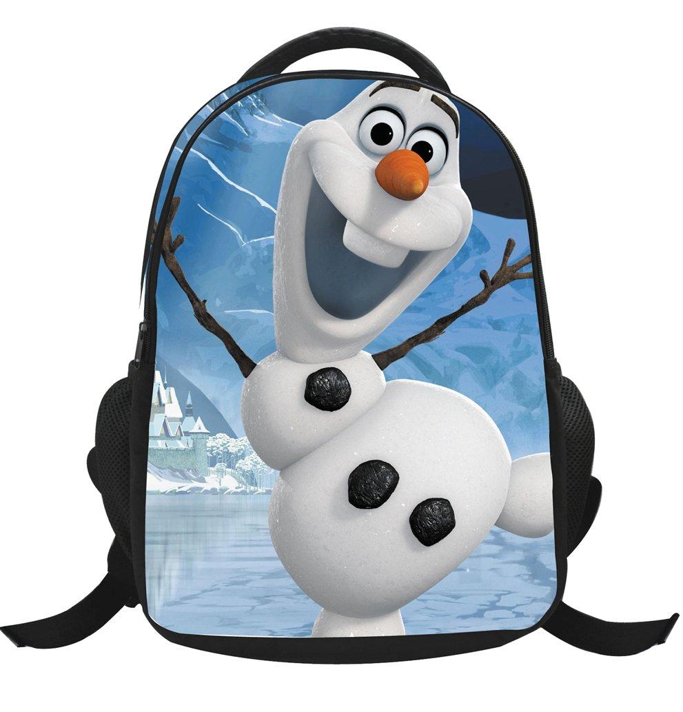 MissFox Zainetto Asilo Ragazze Zaino Frozen Principesse Anna E Elsa E Olaf Backpack School Bag A6